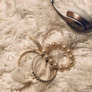 SET OF 4 VINTAGE-CHIC BRACELETS WEDDING PROM